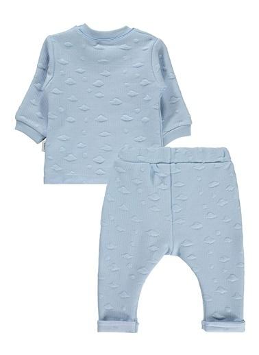 Minidamla Bebek 3'lü Kapüşonlu Takım Mavi